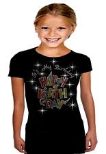 Bling Bling It's My Birthday & HAPPY BIRTHDAY, Rhinestone T-Shirt Girls 10~12