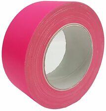 NEON Gaffa Tape Klebeband Pink UV-aktiv 50mm x 25m Gewebeband Panzertape