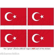 """Turquía bandera turca Türkiye 50mm (2 """") Vinilo bumper-helmet etiquetas engomadas, calcomanías X4"""