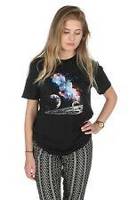 Retro Space Galaxy T-shirt Top Fashion Slogan Tumblr Grunge Alien Moon Vintage