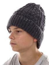 Brunotti Beanie Knitted Cap Winter Hat Grey Davi Braid Pattern Warming
