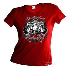 Falda Guitarra ROCKABILLY mujer camisa de la muchacha `N Rodillo Music GOTHIC