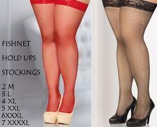 fishnet stockings Hold Ups many colours 2M 3L 4XL 5XXL 6XXXL 7XXXXL plus size