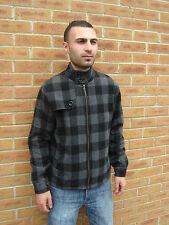 Comprobación de moda chaqueta de lana para hombre M-XXL Envío Gratis