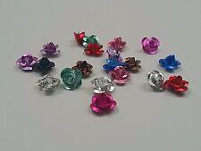 Aluminum Rose Flower, Metal Bead,  Qty 50 beads 6mm x 4.5mm, Hole: 1mm