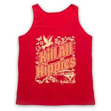 Tuer tous les hippies Drôle Slogan Blague anti Hippie Yuppie Unisexe tank top gilet