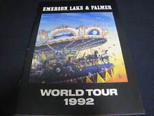ELP World Tour 1992 Tour Book Program Japan Ticket Stub Keith Emerson Greg Lake
