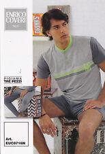 Pigiama Uomo 3 pezzi. Pantalone corto + Lungo. ENRICO COVERI. Cotone. EUC8716N.