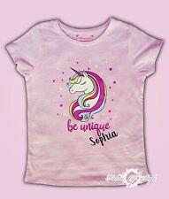 Personalised Any Name Unicorn Girls Girl Gift Birthday  Children  T-shirt kids