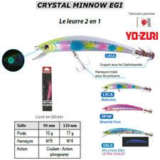 YO-ZURI CRYSTAL MINNOW EGI : HYBRID WITH HOOK FOR FISH or SQUID, CUTTLEFISH ...