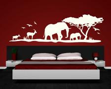 Afrika Wandtattoo Elefanten  25 Farben 6 Größen