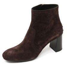 C9004 tronchetto donna TOD'S gomma T70 scarpa marrone scuro shoe boot woman