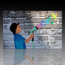 Street Art Graffiti div.Größen Kunstdruck Wandbild auf Leinwand Green Apple