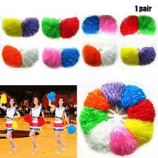 1Pair Cheerleader Pompoms Cheerleading Cheering Ball Dance Party Decorator Fancy