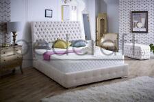 3ft, 4ft6, 5ft, 6ft, All Sizes Scroll Top Lyon Bed, Soft Velvet or Chenille.