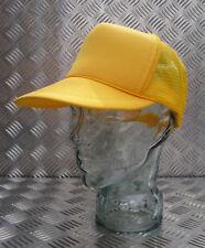 Amarillo Malla Truckers Sombrero / Gorra Ajustable Sin Logos Nuevo