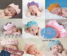 New Crown Infant Baby Kids Princess Headband Cap Hat Crochet Knitted