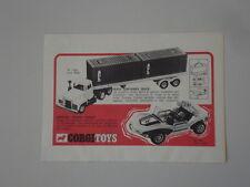 advertising Pubblicità 1972 CORGI TRUCK/BERTONE BUGGY
