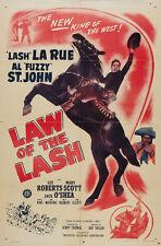 "Law of the Lash (1947) ""Lash"" Larue Cult Western movie poster print"