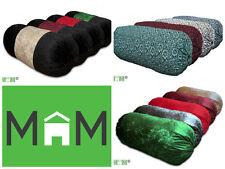 Luxury Bolster Cylinder Pillow Cushion 12 Designs Polyester Velvet