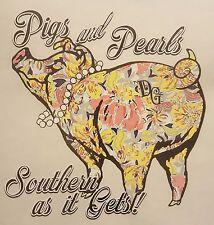DIXIE OUTFITTERS PIGS & PEARLS SOUTHERN AS IT GET HOODED SWEATSHIRT #6305 HOODIE