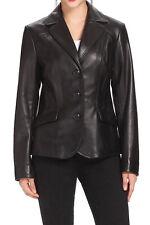 Women's Stylish Classic Genuine Lambskin Nappa Leather Blazer WB 31