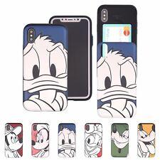 DISNEY Line Art Card Bumper Cover Galaxy S10 Note10 Plus iPhone XS Max XR X Case