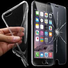 HANDY SCHUTZ HÜLLE + PANZERGLAS aus echt Glas Silikon Schutz Hülle Tasche Case