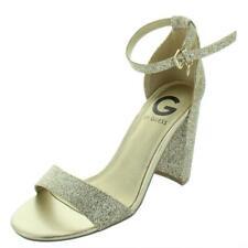 G by Guess Womens Shantel 3 Patent Block Heel Dress Sandals Shoes BHFO 2561