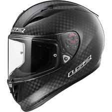 LS2 Arrow C EVO Race Crash Helmet - Solid Carbon Pinlock & Tear off ready