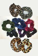 Gorgeous Coloured Velvet Hair Scrunchie - Colour Choice - Band Loop Tie Donut