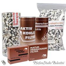 Pfeifenfilter 9mm Meerschaum / Aktivkohle Filter Pfeife Mundstück WHITE ELEPHANT