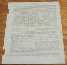 1863 Warren Map of Mountain Chains Around The Mediterranean Sea