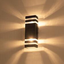 Outdoor 6W/14W LED Wall Sconces Lamp Fixture Up/Down Light E27 Bulbs Garden Door