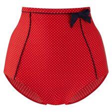 PANACHE SWIMWEAR BRITT HIGH WAISTED PANT--RED-NAVY-SPOT-