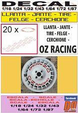DECAL LLANTA - JANTE - TIRE - FELGE - CERCHIONE OZ RACING ROJA RED (07)