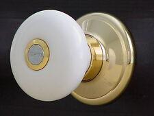 Porcelain Ceramic Knobs w/22K Gold finished fit interior/exterior door