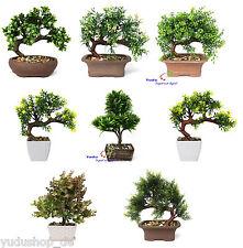 Bonsai Kunstpflanze Kunstbaum im Topf Stein