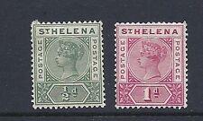St. Helena 1890-97 drei (SG 46-47 1/2 D und 1d) F/VF MHR