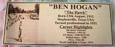Golf Ben Hogan Gold or Silver Plaque free post*****