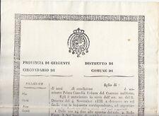 E169-SICILIA-PROVINCIA DI AGRIGENTO-GUARDIA URBANA 1838