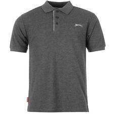 ✔ SLAZENGER Herren Poloshirt S M L XL XXL 3XL 4XL TShirt Polo Shirt Dunkelgrau