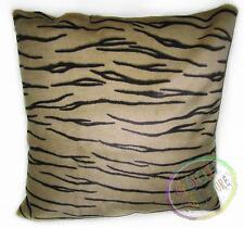 Fi856a Light Sand Brown Black Tiger Pattern Faux Fur Cushion Cover/Pillow Case