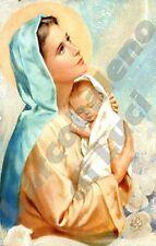 PORTACHIAVI SANTINO IN PVC MADONNA CON BAMBINO GESù VIRGIN MARY CHILD KEY RING