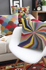 Vintage Cotton Linen Cushion Cover Pillow Case Geometry