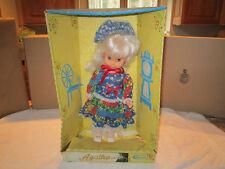 Uneeda girl's doll Girl dress flower Agatha vintage bnib new 1975 lot good nice