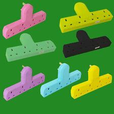 Cable de color de 4 vías libre de extensión de red Adaptador 3 Pin Reino Unido zócalos de múltiples salidas