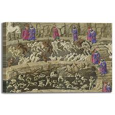 Botticelli divina commedia Dante 2 quadro stampa tela dipinto telaio arredo casa