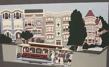 "PATTI HARRIS GOOGE ""SAN FRANCISCO CABLE CAR"" SERIGRAPH"