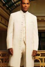 Men's Long Tuxedo Western Duster Frock Mandarin Nehru Collar TUXXMAN